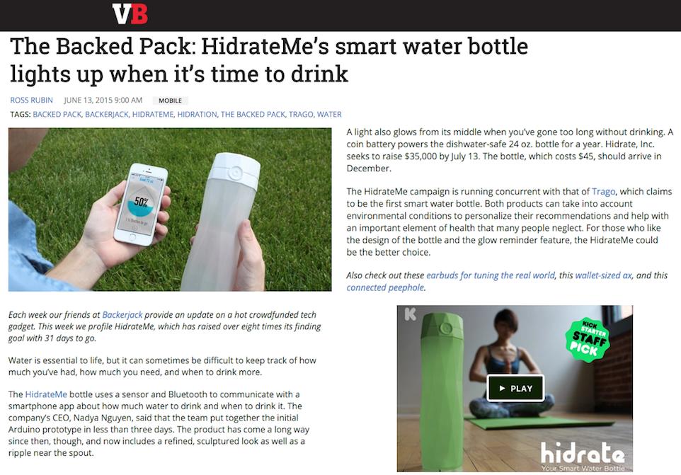 Hidrate_VentureBeat_June2015
