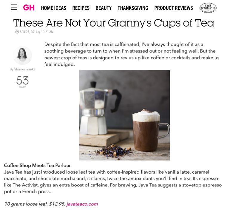 Java Tea_Good Housekeeping_April2014