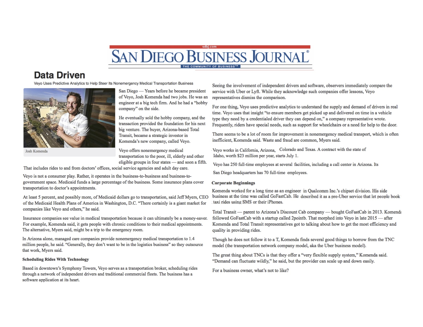 Veyo_SanDiegoBusinessJournal_June2016